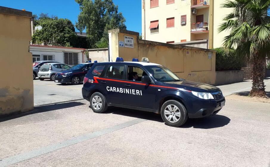 la caserma dei carabinieri (foto l unione sarda scano)