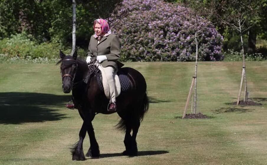 la regina elisabetta a cavallo (foto da facebook theroyalfamily)