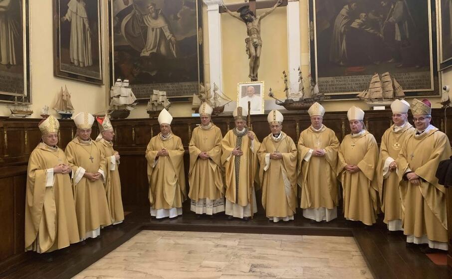 i concelebranti (foto conferenza episcopale sarda)