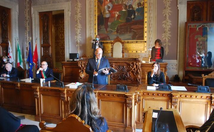 presenti anche il sindaco paolo truzzu e la vice presidente della regione alssandra zedda