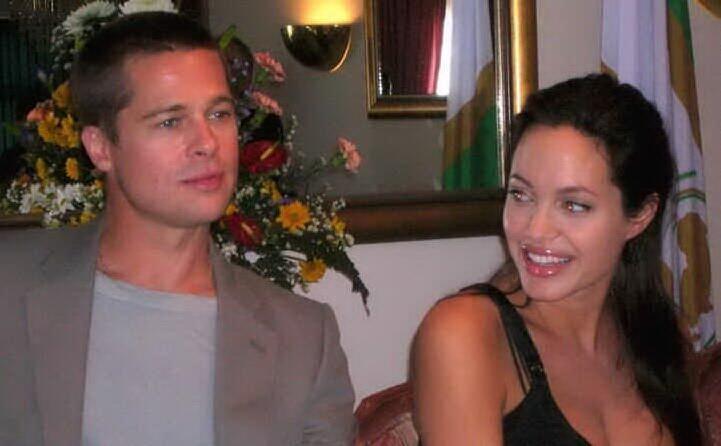 con l ex marito brad pitt
