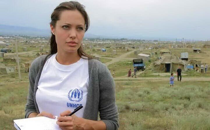 l attrice ambasciatrice per l unhcr l agenzia per i rifugiati dell onu