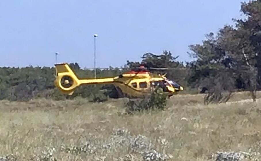 l elicottero a villaputzu questo pomeriggio (l unione sarda)
