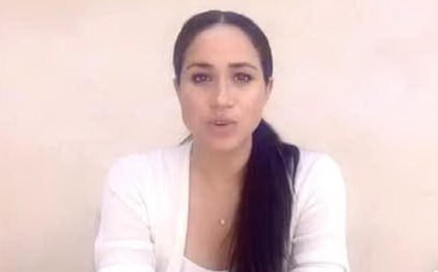 meghan markle in un frame del video