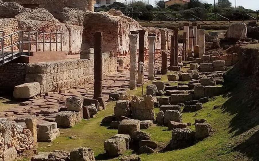 l area archeologica del museo antiquarium (foto l unione sarda m pala)