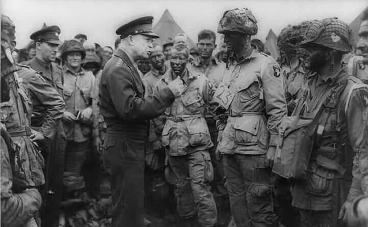 il generale eisenhower prima dell invasione