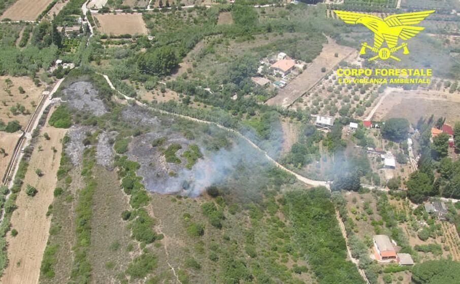 la zona colpita dal fuoco a quartucciu