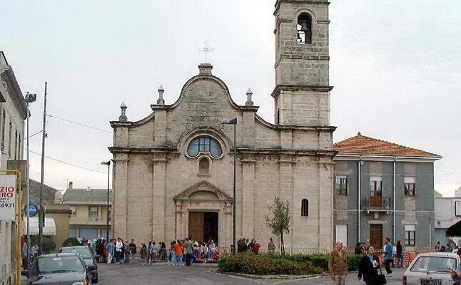 la parrocchia di sant efisio (archivio l unione sarda)