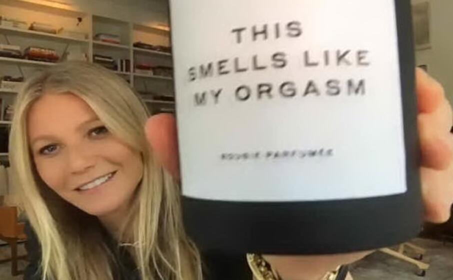 Gwyneth Paltrow vende una candela al profumo di orgasmo, il suo