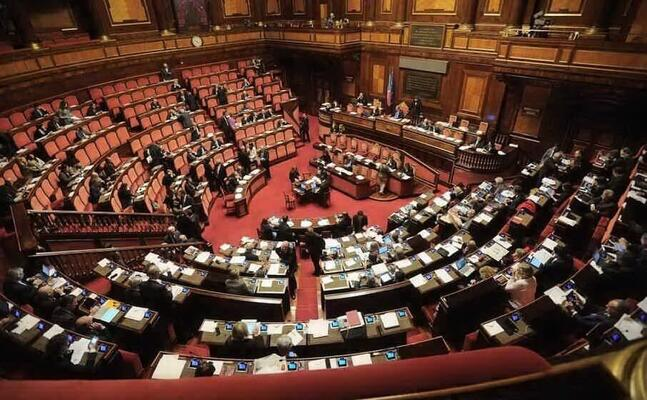 l aula del senato (archivio l unione sarda)