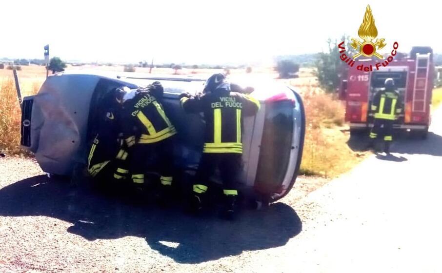 incidente all altezza di siliqua (foto vvf)