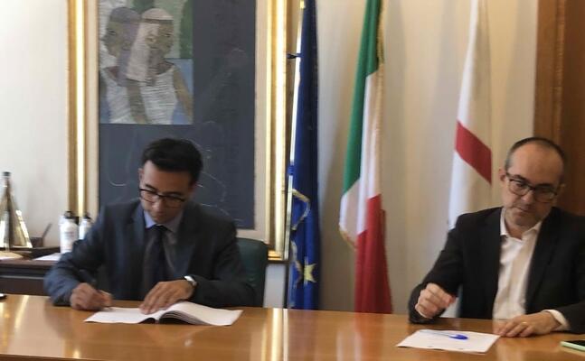 l assessore gianni lampis e il sindaco metropolitano paolo truzzu (foto madeddu)