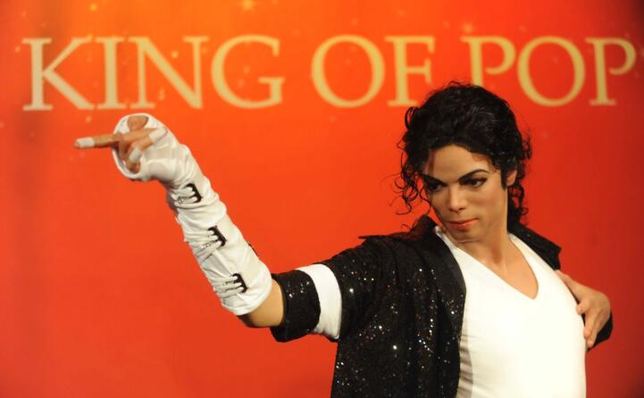 una statua di cera dedicata al re del pop