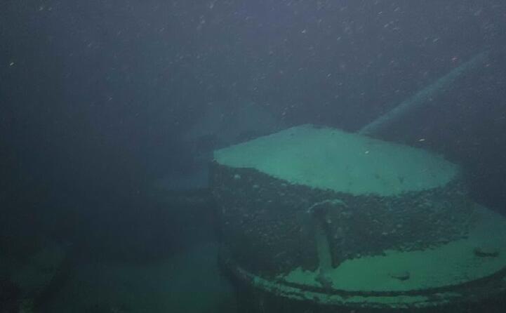 il relitto (foto marina militare)
