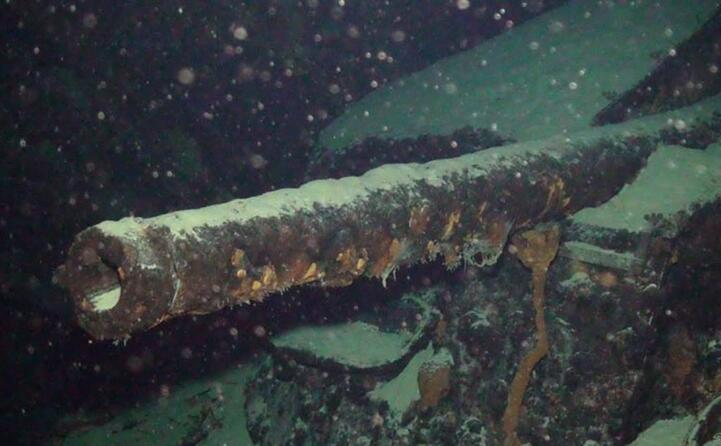 uno dei dodici cannoni (archivio l unione sarda)