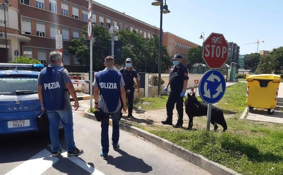 la polizia sul posto (l unione sarda vercelli)
