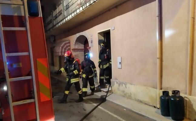 l intervento dei vigili del fuoco (foto l unione sarda cucca)