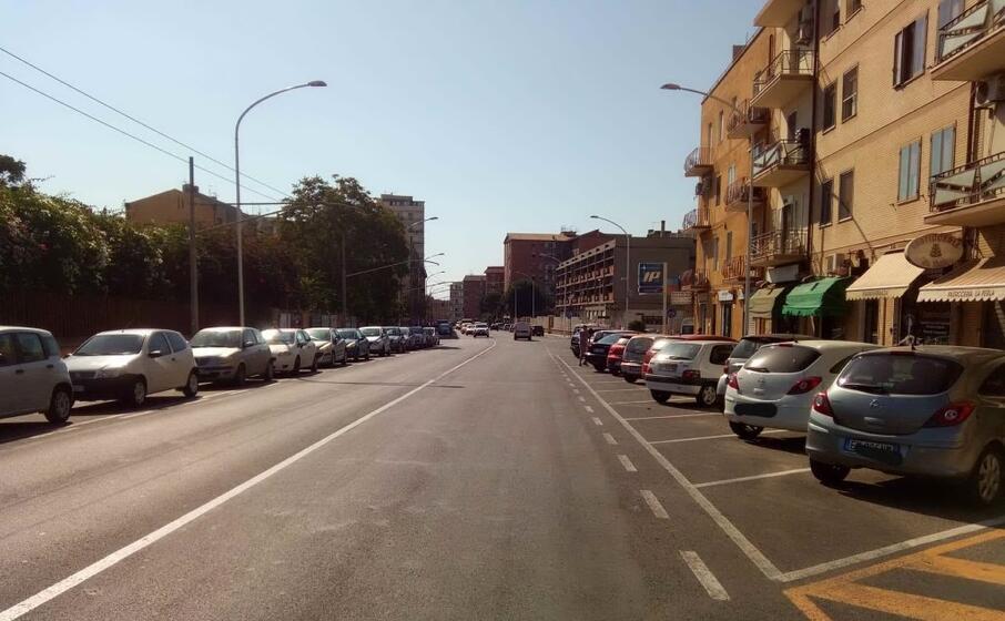 la zona dell incidente (foto polizia municipale)