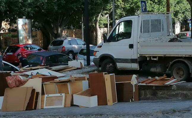 i rifiuti (foto polizia di sassari)