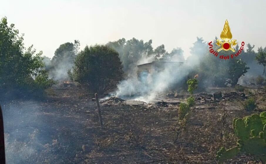 la zona colpita dall incendio