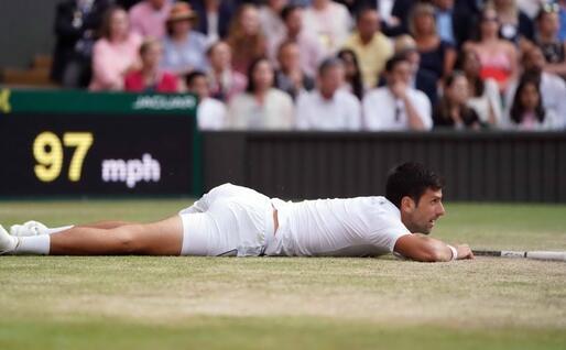 Djokovic a terra (Ansa)