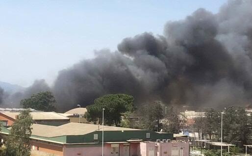 Il grosso incendio in via dell'Agricoltura, Cagliari