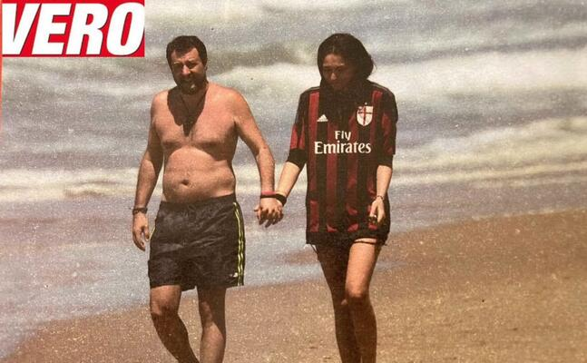 salvini con la fidanzata francesca verdini (foto da vero)
