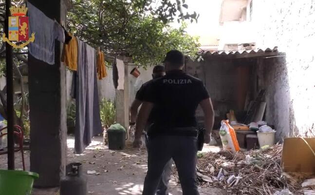 uno degli interventi a maracalagonis (foto polizia)