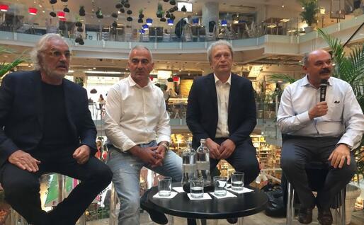 Flavio Briatore, Diego Manca, Sebastiano sardo e Oscar Farinetti