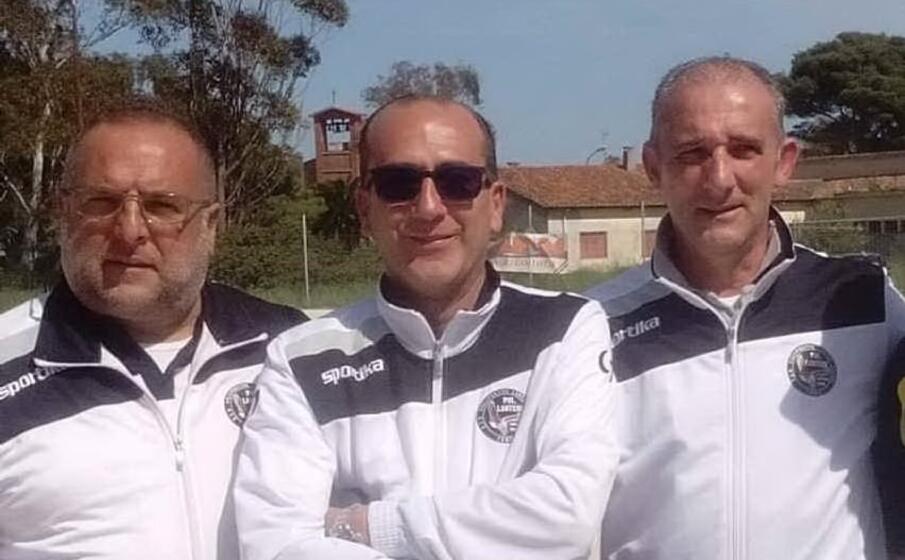 da sinistra il direttore sportivo francesco sini il team manager giacomo addis e il presidente carlo gaspa (l unione sarda tellini)