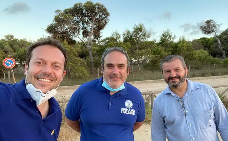 eugenio zoffili e i due nuovi referenti (foto ufficio stampa lega)