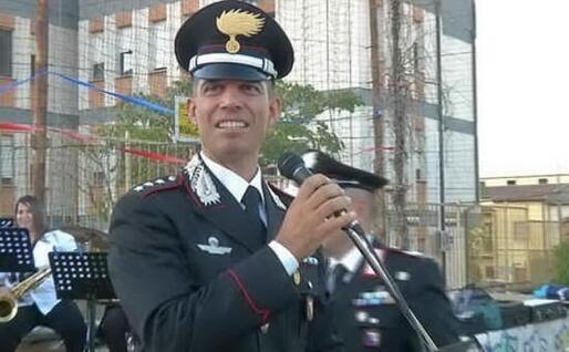 Il maggiore Valerio Cadeddu (L'Unione Sarda)