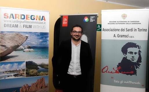 Il giovane regista di Iglesias (foto @FedericaArra)