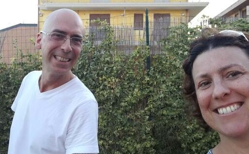 Pierpaolo Piras con la sorella Barbara (foto Piras)
