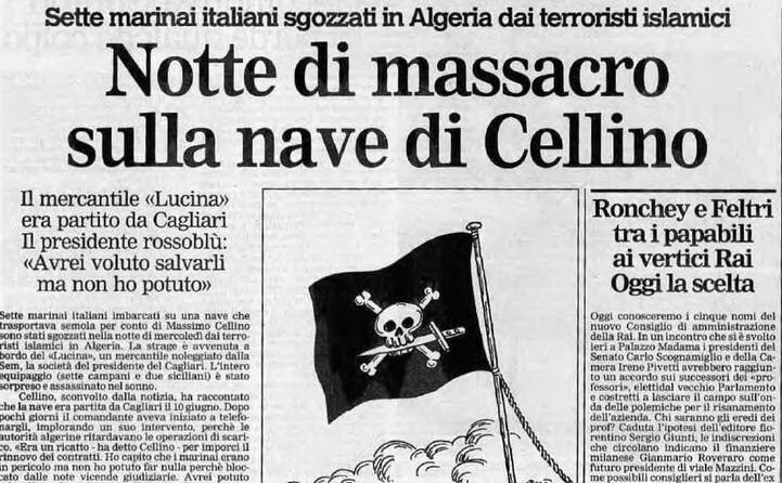 accaddeoggi 7 luglio 1994 la strage sulla nave di cellino