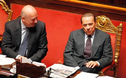 Con Silvio Berlusconi (Ansa)