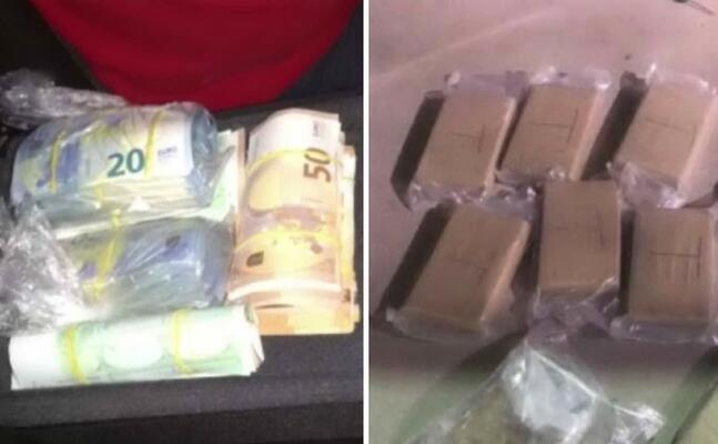 soldi e droga sequestrati (foto carabinieri)