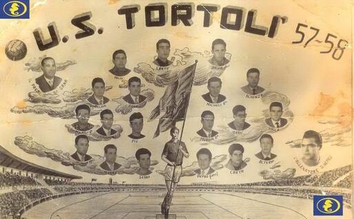 I giocatori del Tortolì 1957-58 (foto Ogliastra calcio)