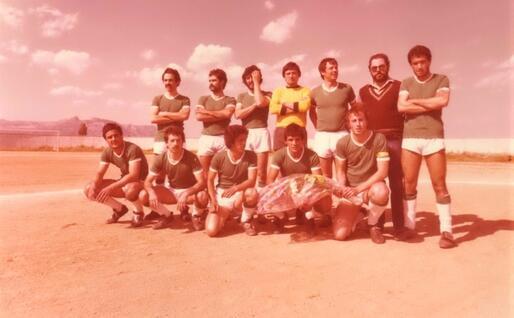 Il Lanusei 1976-77 appena promosso in Prima Categoria (foto Ogliastra calcio)