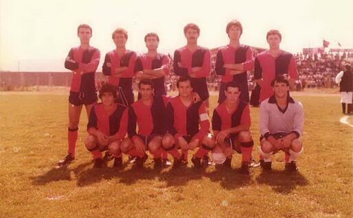 Il Tortolì 1980-81 che conquistò la Promozione (foto Ogliastra calcio)