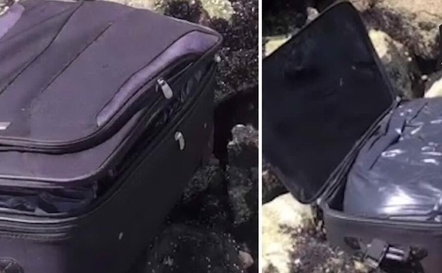 le due valigie immortalate nel video girato per tiktok