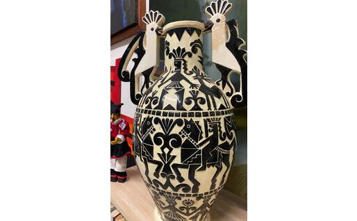 Una ceramica di Federico Melis (foto Raggio)