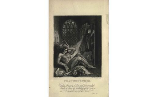 Frankenstein, frontespizio di un'edizione dell'Ottocento