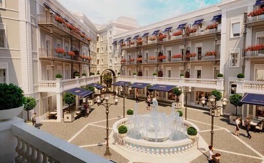 Un'immagine di progetto su come sarà ristrutturata la zona