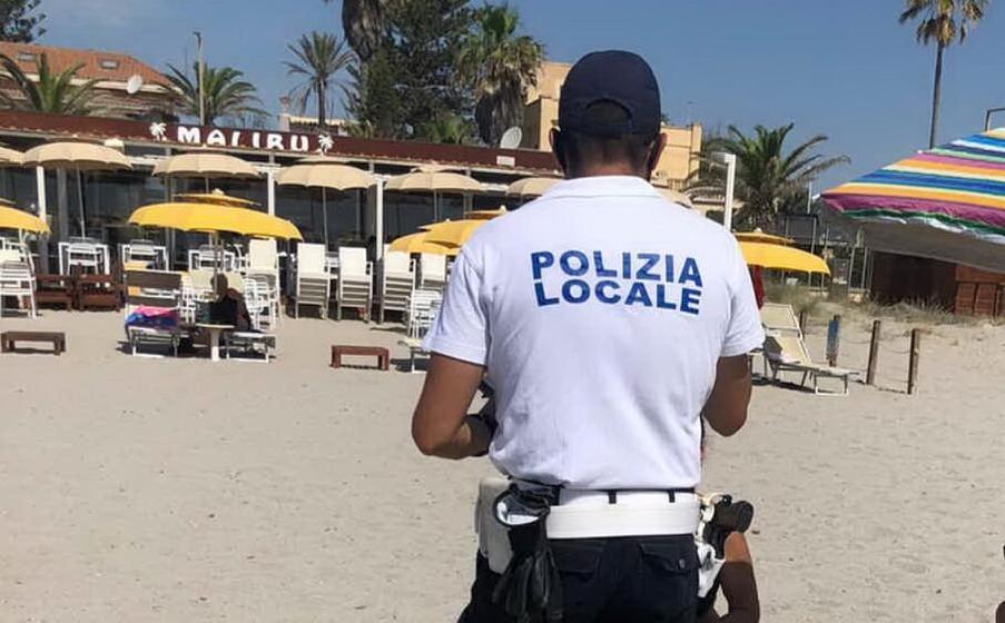 (foto polizia municipale di cagliari)