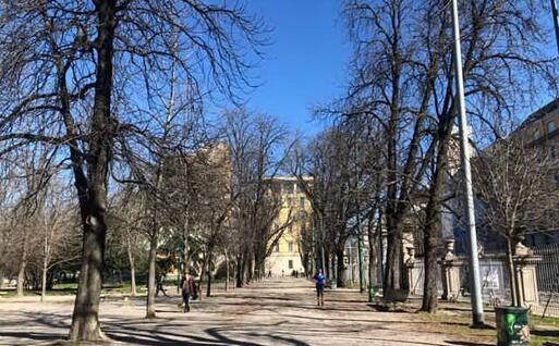 Il parco di Porta Venezia a Milano (foto L'Unione Sarda - D'Errico)