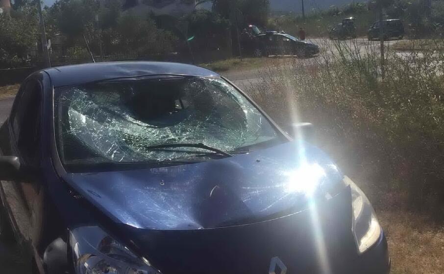 l auto coinvolta nell incidente di posada (foto l unione sarda ungredda)
