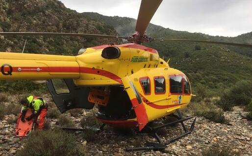 L'elicottero del 118 (Foto A. Serreli)