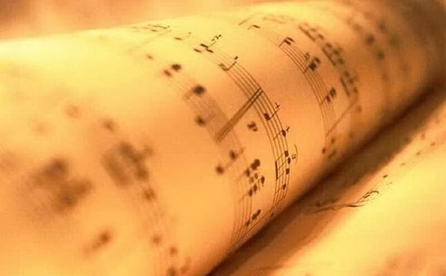 uno spartito musicale (archivio unione sarda)
