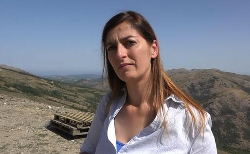 Daniela Falconi, sindaco di Fonni (foto L'Unione Sarda)